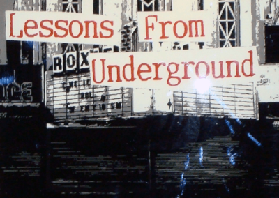 Lessons From Underground Art Exhibit