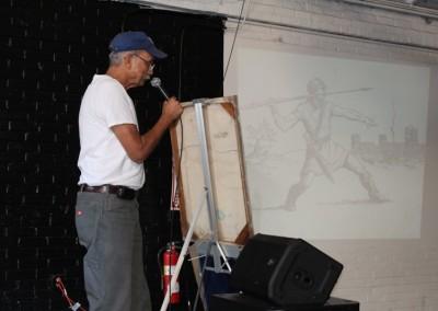 El Sereno Skateboard Workshop - Muralist David Botello  Skateboard Workshop, Art Exhibit, Live Music Event at The Vex IMG 8287 400x284