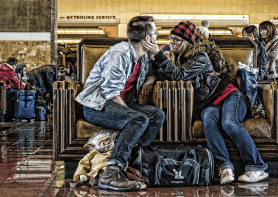 "The Journey With Yoda At Union Station by Richard Smith Photography  ""Moments In Time"" The Photography of Richard Smith TheJourneyWithYodaAtUnionStation 400x284"