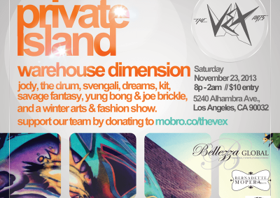 Private Island Warehouse Dimensions – An evening of fashion, music, and arts PrivateIslandEvent Flyer800 400x284
