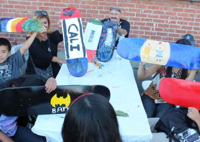 El Sereno Skatedeck Workshop  Skateboard Workshop, Art Exhibit, Live Music Event at The Vex 1080506 11 400x284