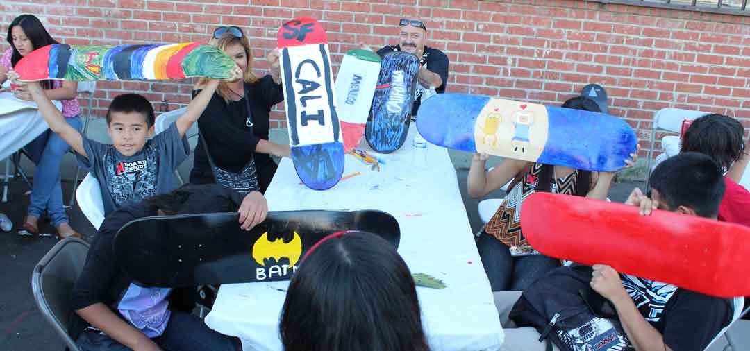 Skateboard Workshop, Art Exhibit, Live Music Event