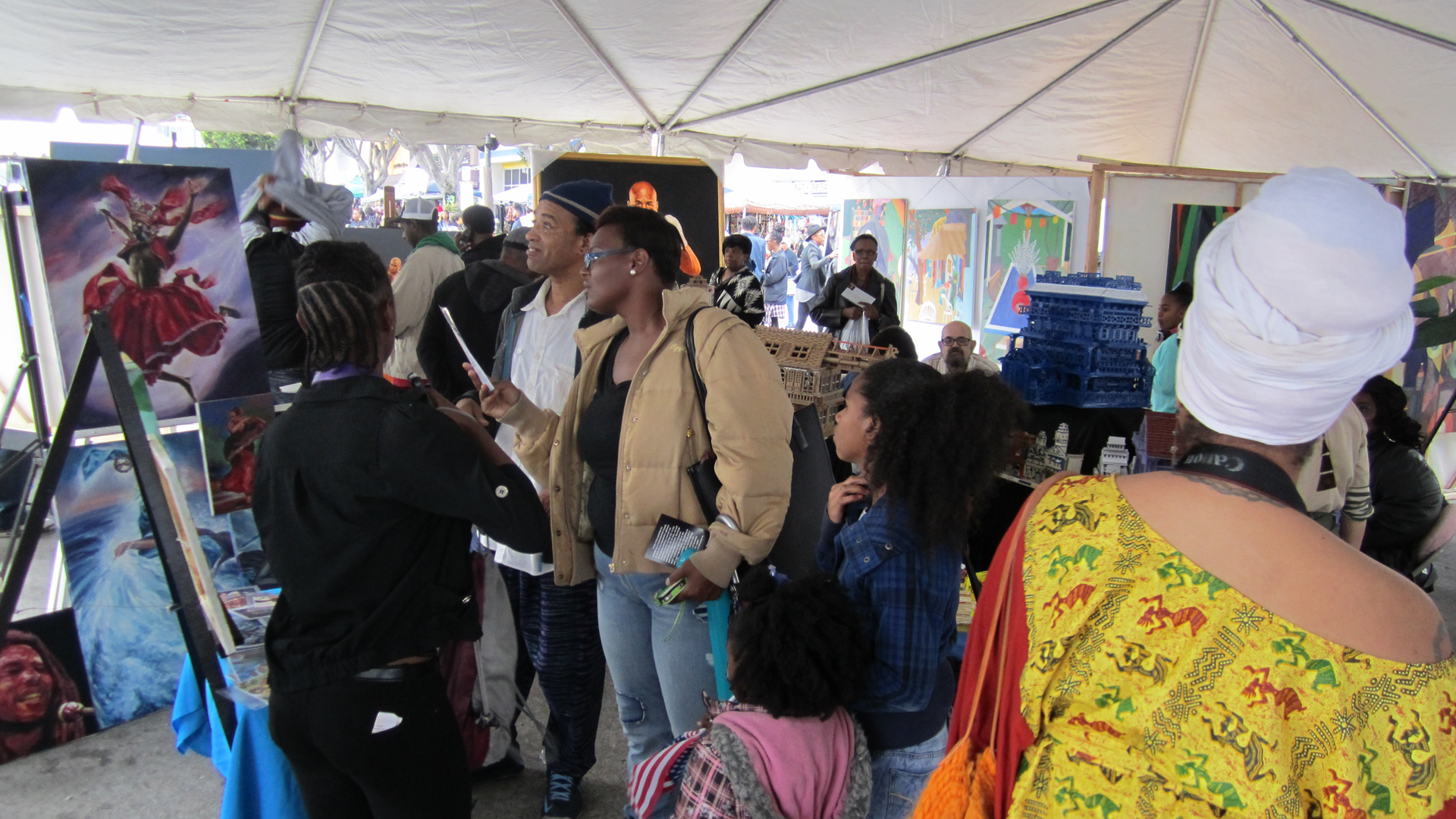 Martin Luther King Parade Art Exhibit at Leimert Park