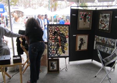Artist Wanda R. Knight  MLK Kingdom Parade Art Exhibit Artist Wanda R