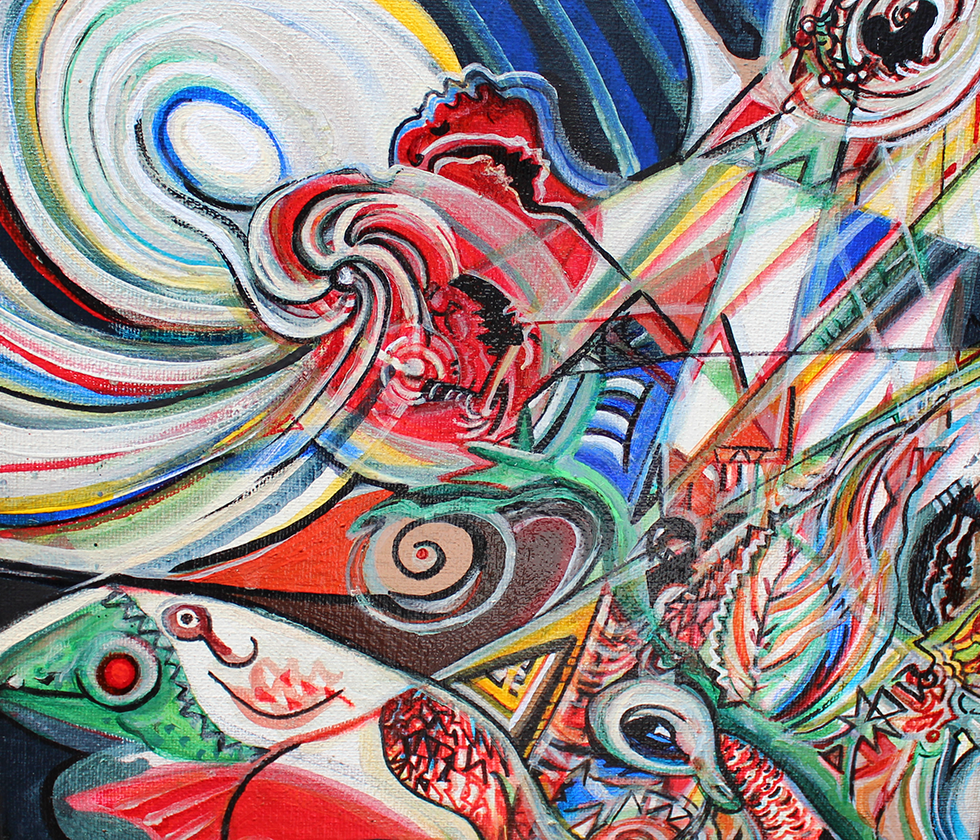 Darren Smith Robinson Artwork at The 22nd Central Avenue Jazz Festival Arts Pavilion Hosted by La Mancha Gallery [object object] Arts Pavilion 2018 980x840 2