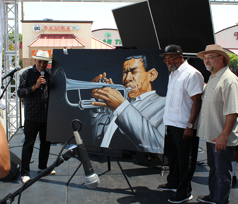 Mohammed Mubarak Artwork at The 22nd Central Avenue Jazz Festival Arts Pavilion Hosted by La Mancha Gallery
