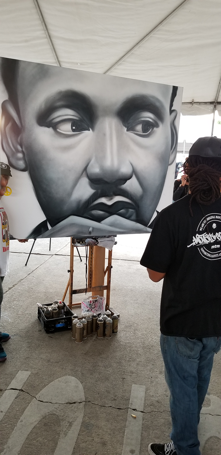 The 22nd Central Avenue Jazz Festival Arts Pavilion Hosted by La Mancha Gallery  2018 MLK Kingdom Day Parade Exhibit 20180115 161651