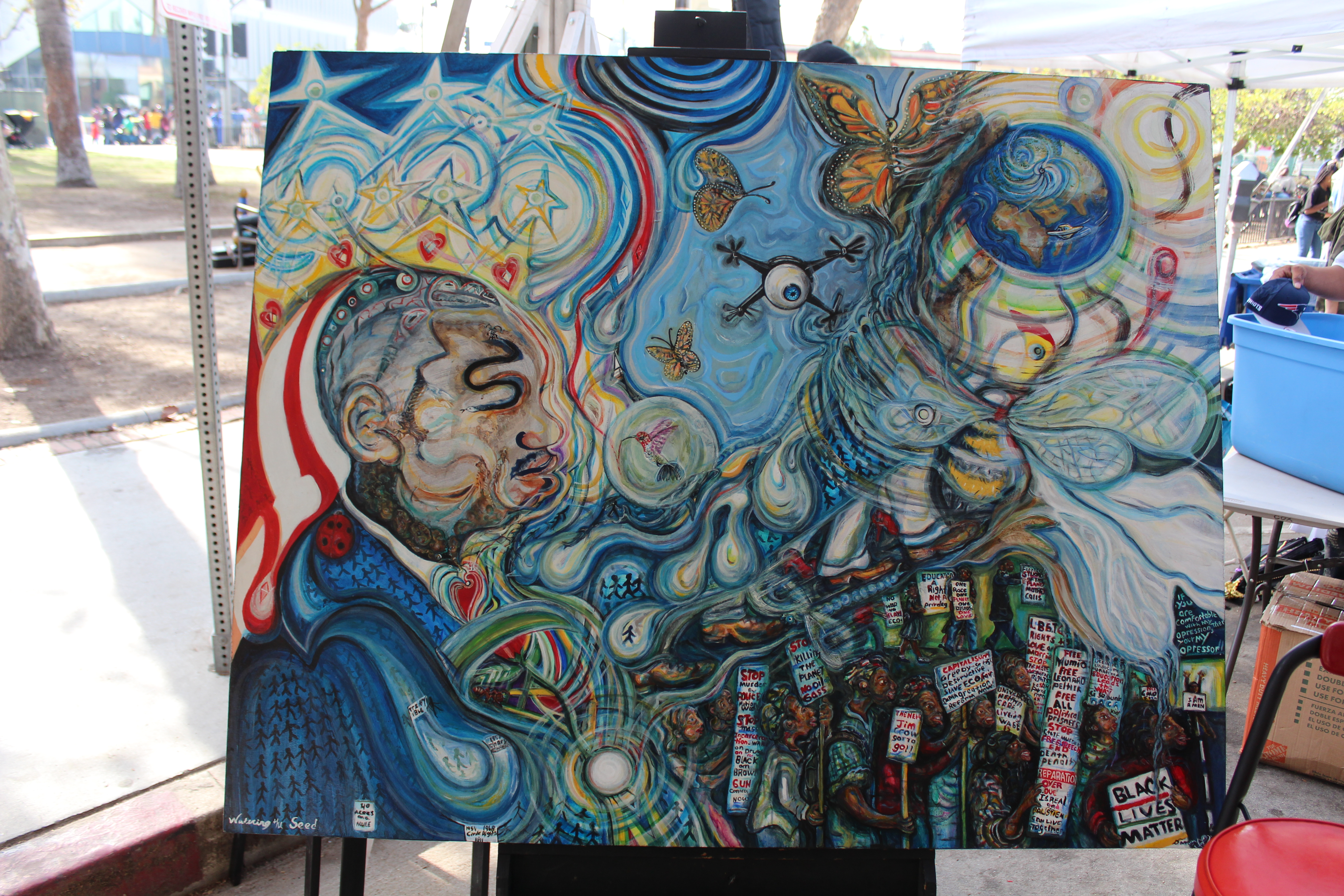 The 22nd Central Avenue Jazz Festival Arts Pavilion Hosted by La Mancha Gallery  2018 MLK Kingdom Day Parade Exhibit IMG 0674